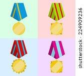 set of medals in a flat design | Shutterstock .eps vector #224909236