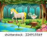 illustration of a horse in a... | Shutterstock .eps vector #224915569