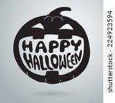 halloween symbols pumpkin ... | Shutterstock .eps vector #224923594