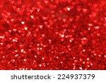Red Hearts Bokeh Valentines Da...