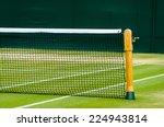 lawn tennis court and net | Shutterstock . vector #224943814