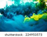abstract paint splash background | Shutterstock . vector #224953573