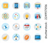 flat icons for school icons and ... | Shutterstock .eps vector #224957056