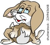 tired rabbit   colored cartoon... | Shutterstock .eps vector #224965648