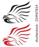 eagle symbols or mascot  | Shutterstock . vector #224967814