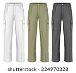 men's working trousers. photo... | Shutterstock .eps vector #224970328