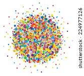 confetti background | Shutterstock .eps vector #224977126