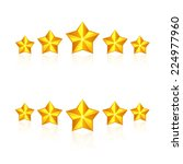 set of gold stars isolated on... | Shutterstock . vector #224977960