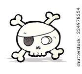 cartoon pirate skull symbol | Shutterstock .eps vector #224978254