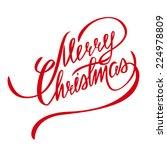 merry christmas vector... | Shutterstock .eps vector #224978809