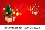 illustration of gift box and... | Shutterstock . vector #224981626