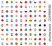 an illustrated set of world... | Shutterstock .eps vector #224989030