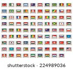 an illustrated set of world... | Shutterstock .eps vector #224989036