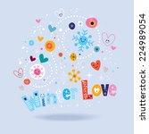 winter love | Shutterstock .eps vector #224989054