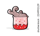 bubbling chemicals cartoon   Shutterstock .eps vector #224992129