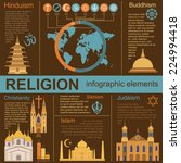 religion infographics. vector... | Shutterstock .eps vector #224994418