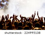 people taking photographs with... | Shutterstock . vector #224995138