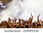 people taking photographs with... | Shutterstock . vector #224995150