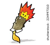 cartoon man with exploding head | Shutterstock .eps vector #224997310