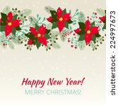 merry christmas and happy new... | Shutterstock .eps vector #224997673