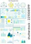 vector  set of flat line...   Shutterstock .eps vector #225008599
