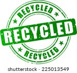 illustration of recycled green... | Shutterstock .eps vector #225013549