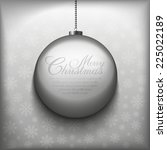 christmas card vector template | Shutterstock .eps vector #225022189