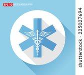 caduceus icon   medical symbol | Shutterstock .eps vector #225027694