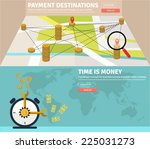 flat design concepts for e... | Shutterstock .eps vector #225031273