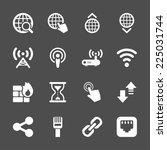 network icon set  vector eps10.