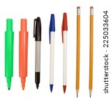 big selection of writing... | Shutterstock . vector #225033604