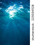 underwater shot with sunlight | Shutterstock . vector #225034528
