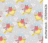 vector seamless pattern with... | Shutterstock .eps vector #225044626
