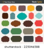 colorful labels | Shutterstock .eps vector #225046588