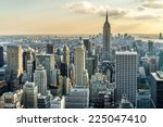 aerial view of new york city in ... | Shutterstock . vector #225047410