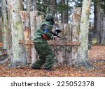 shooter behind fortification  | Shutterstock . vector #225052378