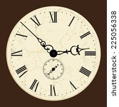 old clock.vector illustration. | Shutterstock .eps vector #225056338
