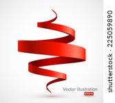 red spiral 3d. | Shutterstock .eps vector #225059890