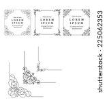 vintage frames vector  eps 10... | Shutterstock .eps vector #225062353