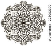 mandala. round ornament pattern.... | Shutterstock .eps vector #225063370