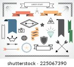 retro design elements with... | Shutterstock .eps vector #225067390