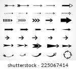 arrows. vector design elements... | Shutterstock .eps vector #225067414