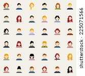 abstract people icons on a... | Shutterstock .eps vector #225071566