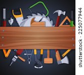 carpentry woodworks background...   Shutterstock .eps vector #225077944