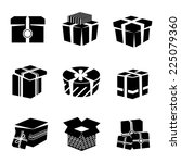 black and white boxes and... | Shutterstock .eps vector #225079360