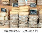 Farmer Cheese On Market Counter