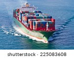 container ship | Shutterstock . vector #225083608