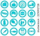 food and drink basic icons... | Shutterstock .eps vector #225092728