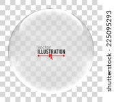 glass sphere. vector... | Shutterstock .eps vector #225095293