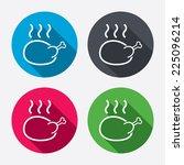 roast chicken sign icon. hen... | Shutterstock .eps vector #225096214